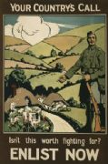 Vintage British army poster, your country's call